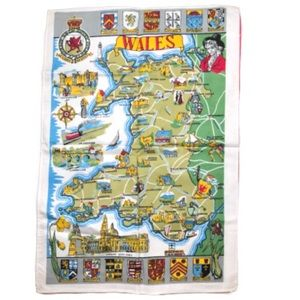 Wales England Royal Family double sided tapestry